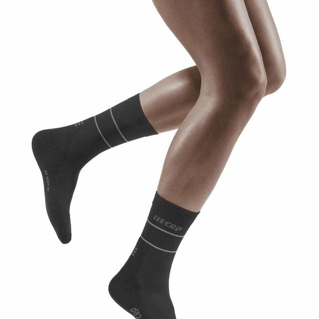 cep Women Comp. Mid Cut Socks 3.0 Refl. (Schwarz)