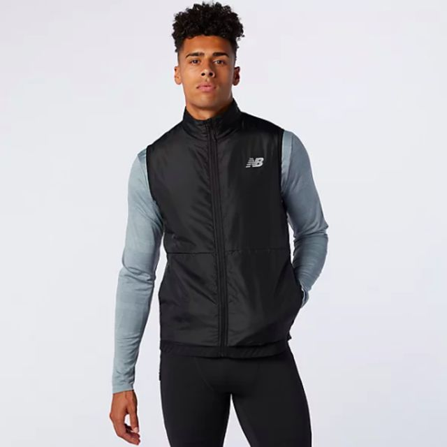 New Balance Impact Grid Vest (Charcoal Heather)