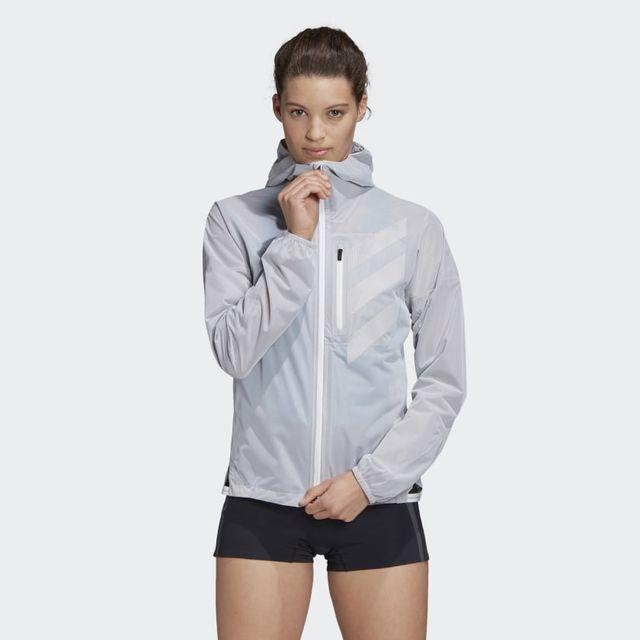 adidas AGR Rain Jacket w (Grau)