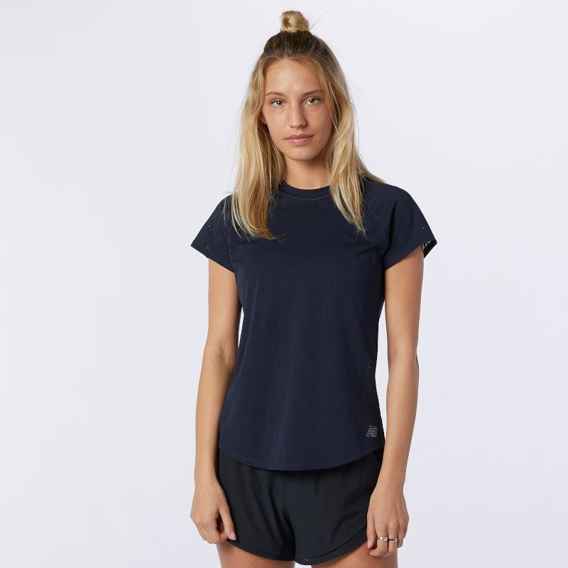 New Balance Lady Q Speed Fuel Jacquard Short Sleeve (Eclipse)