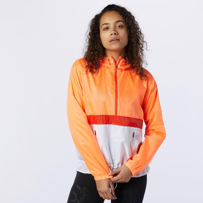 New Balance Lady Q Speed Fuel Light Weight Jacket (Citrus Punch)