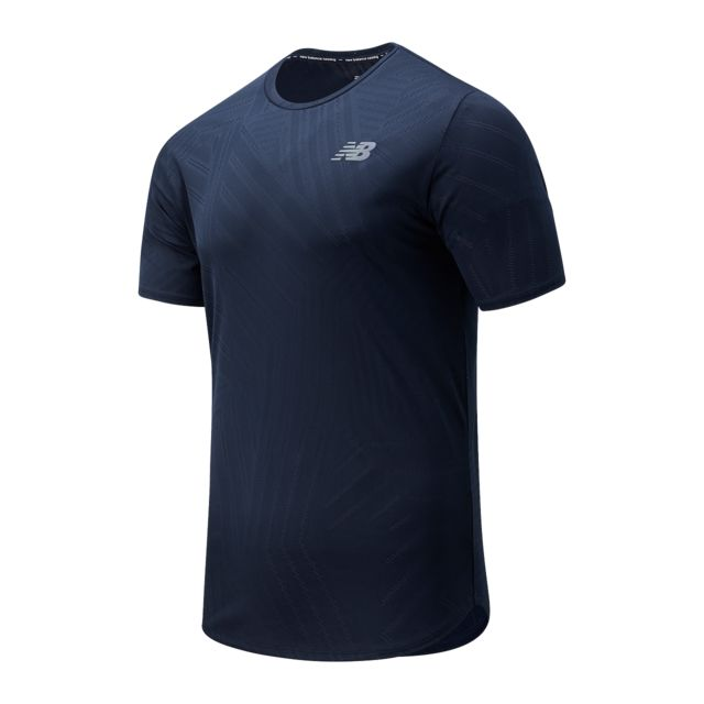 New Balance Q Speed Fuel Short Sleeve (Blau)