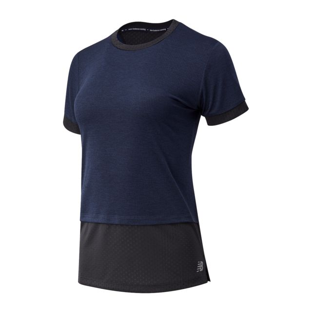 New Balance Lady Impact Run Hybrid Short Sleeve