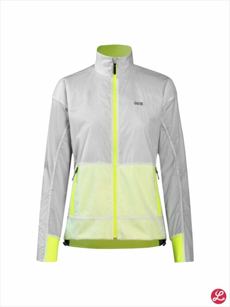 Gore Lady Drive GTX Infinium Jacket (Weiß Nenongelb)