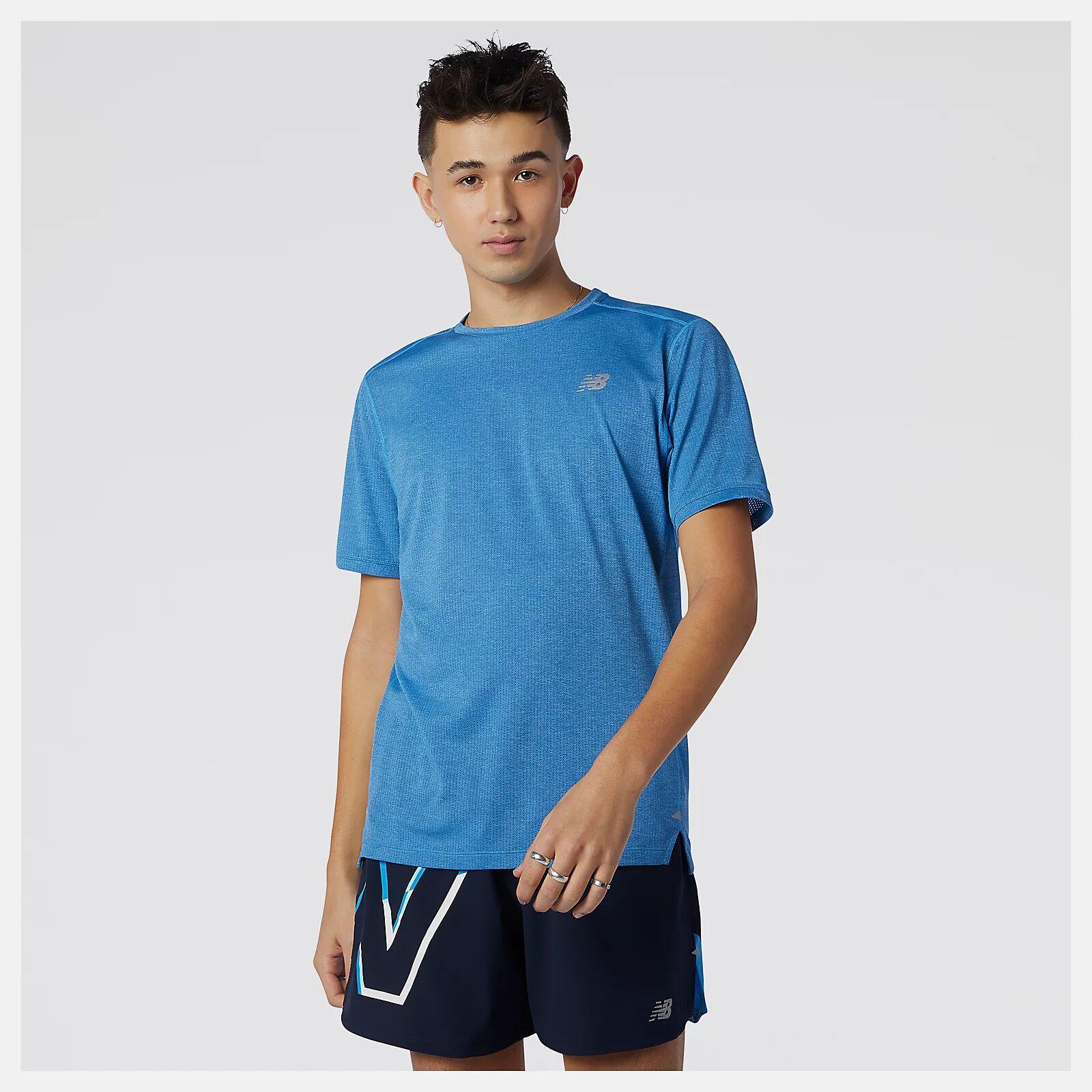 New Balance Impact Run Short Sleeve (Blau)