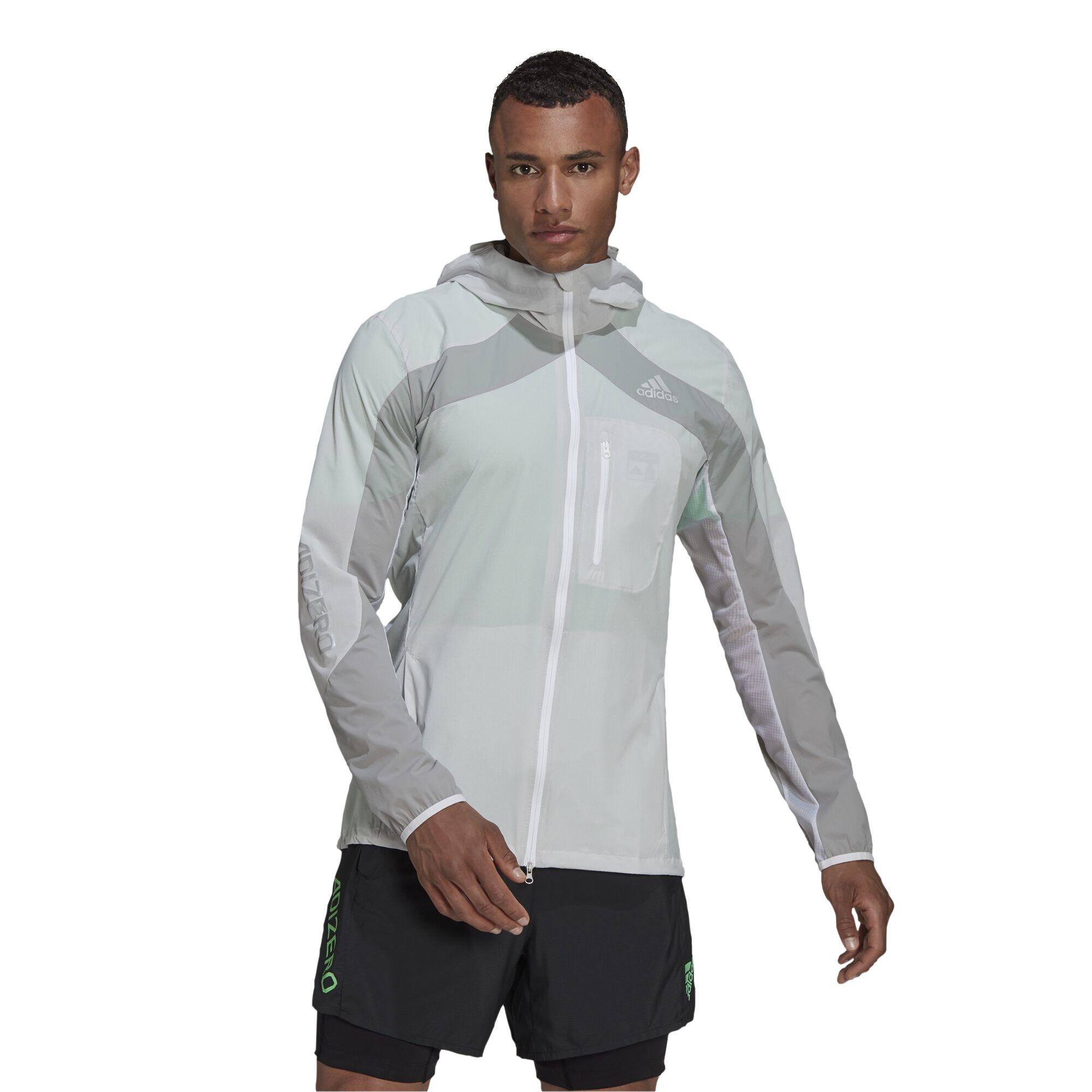 adidas Marathon Jacket (White Grey)