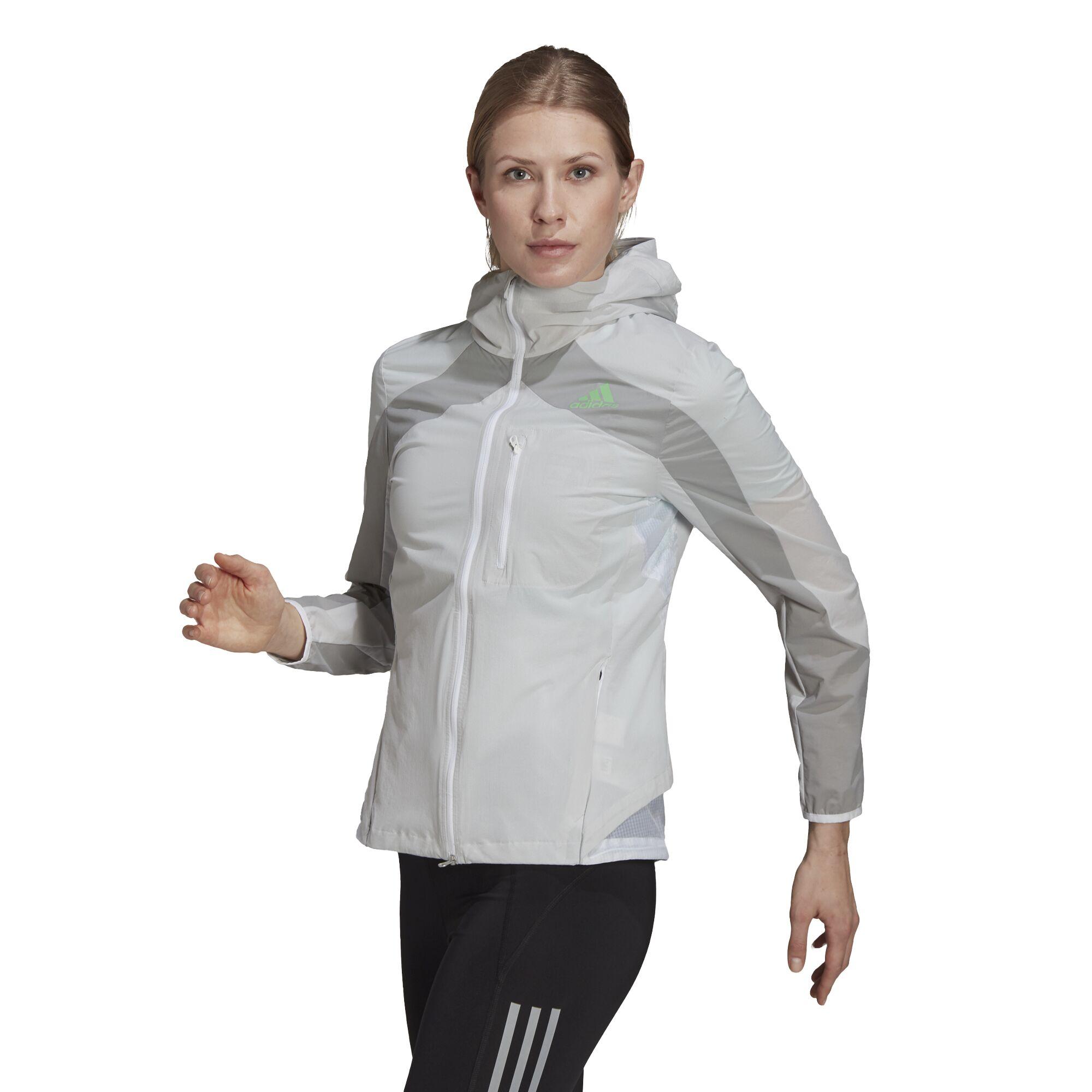 adidas Lady Marathon Jacket (White Grey)