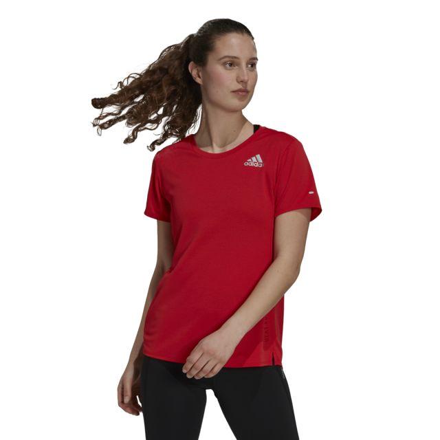 adidas Lady Heat Ready Tee (Red)