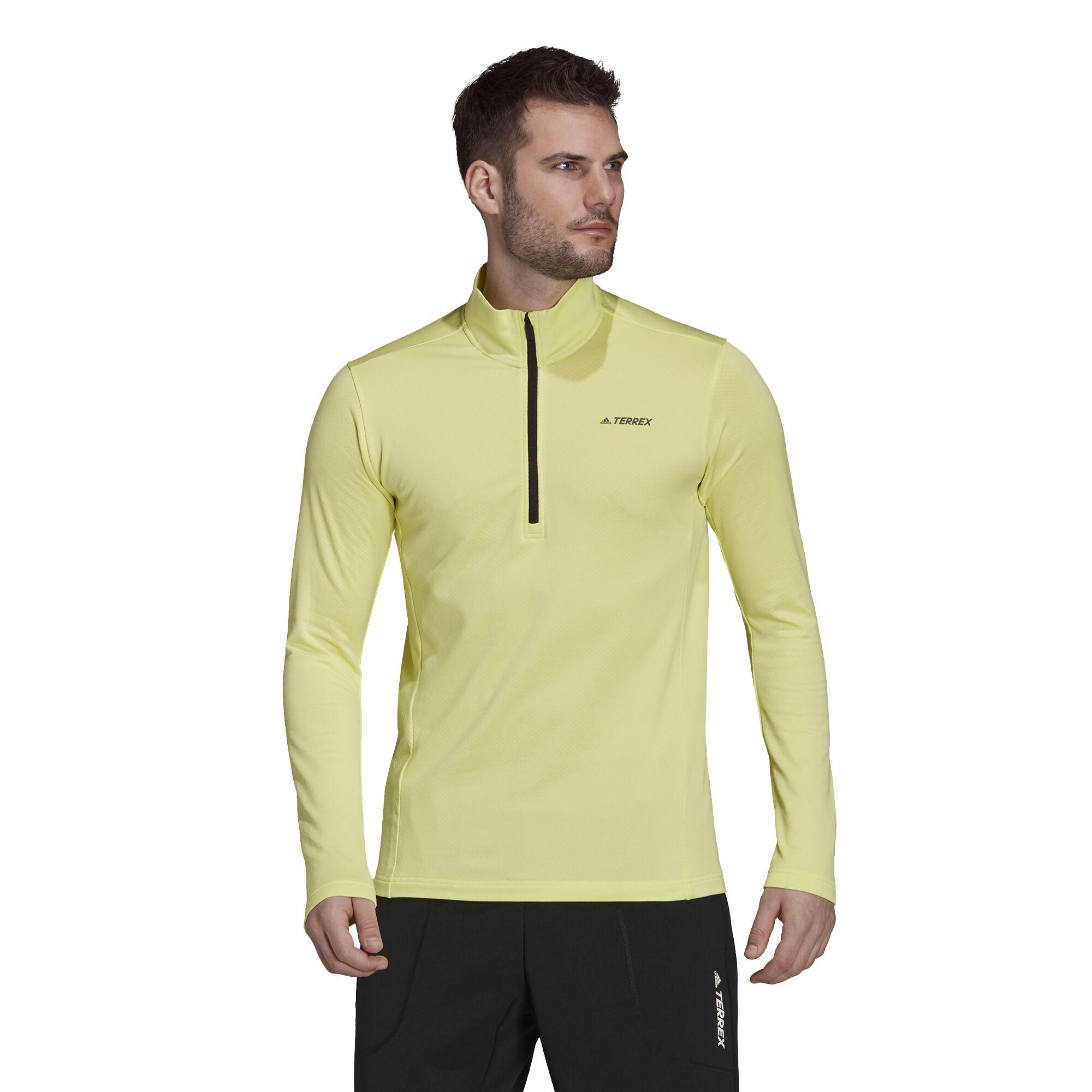 adidas Multi 1/2 Zip Fleece Top (Pulse Yellow)