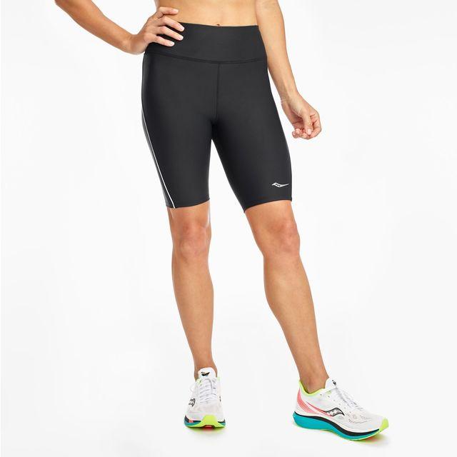 "Saucony Lady Fortify 8"" Biker Short (Black)"