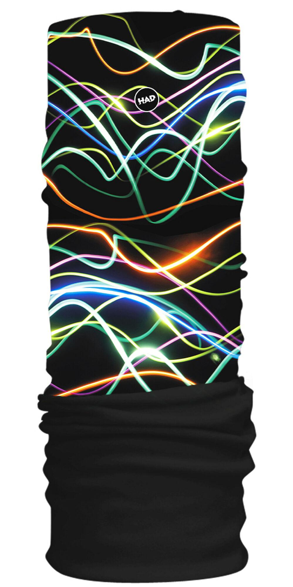 H.A.D. Originals Fleece Multifunktionstuch (Schwarz Neon)