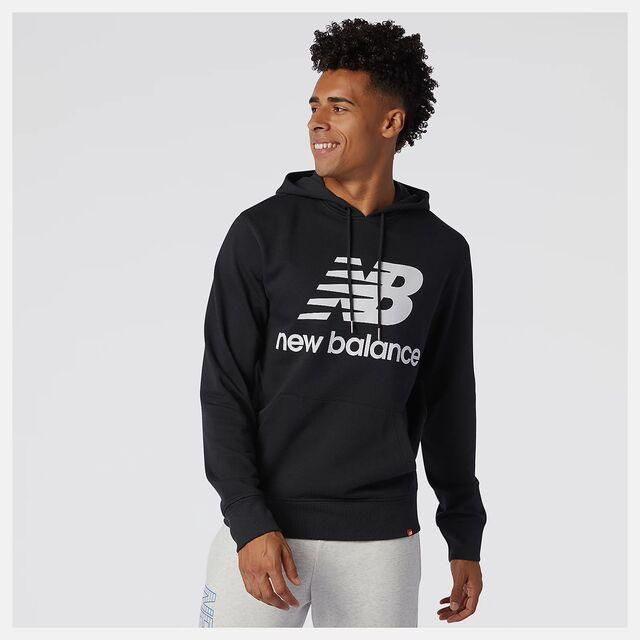 New Balance Ess. Stacked Logo Hoodie (Black)