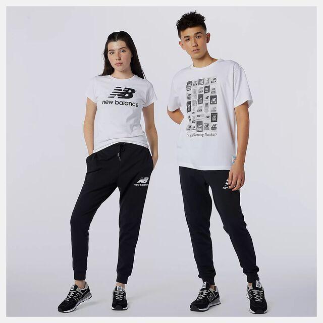 New Balance ESS Stack Logo Slim Pant (Black)